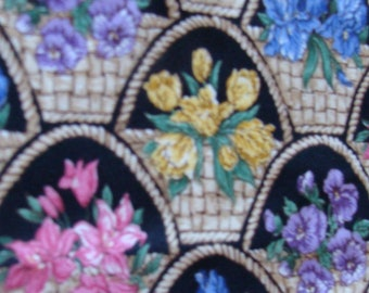 VIP Print by Joan Messmore Cranston Print assorted framed flowers cotton fabric