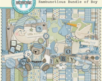 Digital Scrapbook Rambunctious Bundle of Boy