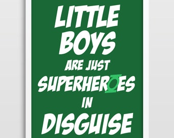Superhero Poster, Superheroes, Comics, Gift For Boys, Green Lantern, Nursery Art Print, Superhero Art Print, Bedroom Decor, Superheroes