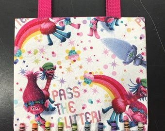 Inspired Trolls coloring crayon bag
