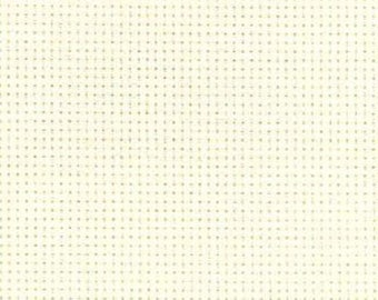 AIDA 16 Count Fabric. Antique White Cross stitch fabric. Permin embroidery cotton. Made in Copenhagen.
