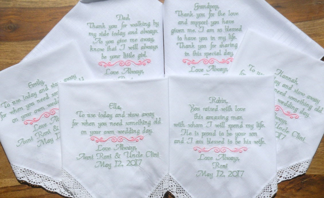 6 Wedding Day Gifts Gifts To Parents Flower Girl Inlaws Personalized