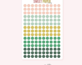 Mini Dot Planner Stickers | VINTAGE HOLIDAY