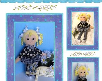 """Easy Cloth Rag Doll PDF Pattern Daisy 18"""" Doll Pattern- Easy Beginner PDF Sewing Patterns by Peekaboo Porch"""