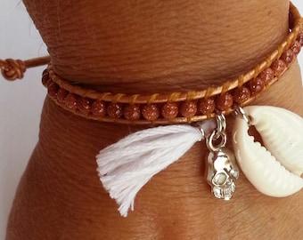 cowrie wrap bracelet