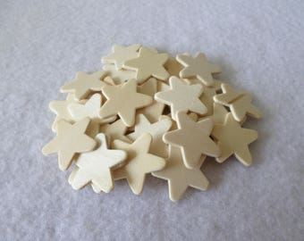 30 Wood stars, unfinished, for kids crafts, wood crafts, wood working
