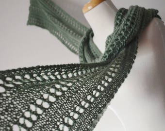 New .PDF Knitting Pattern for Flatlander Lace & Texture Scarf - Pattern Only - Knit Your Own Flatlander Scarf