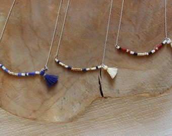 Necklace silver/gold line