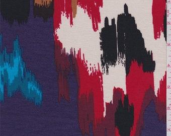 Purple Multi Southwest Print Rayon Jersey Knit, Fabric By The Yard