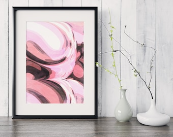 Abstract Wall Art Art Pink Abstract Art Prints Wall Art Prints Print Abstract Print Art Print Pink Wall Art Gallery Wall Print Gallery Print
