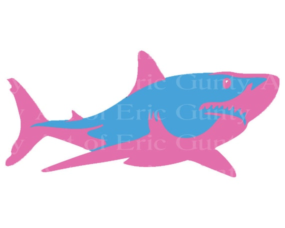 Great White Shark Birthday - Edible Cake and Cupcake Topper For Birthday's and Parties! - D22065