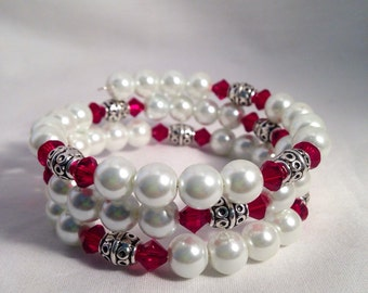 January birthstone bracelet, Garnet birthstone bracelet, january bracelet, Garnet bracelet, Swarovski crystal bracelet