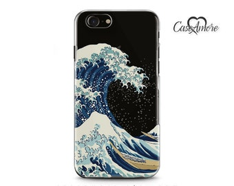iPhone 8 case, iPhone 8 Plus, iPhone 7 case, Clear iPhone 7 Plus case, iPhone 6/6s case, iPhone 6 Clear case, Galaxy S8 case, Kanagawa Wave