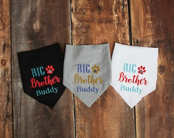Dog Baby Announcement Bandana - Big Brother Dog Bandana - Big Brother Dog Photo Prop - Big Brother To Be Pregnancy Announcement - Dog Baby