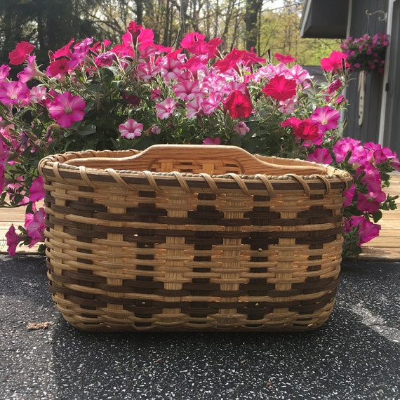Paper plate silverware basket divided basket handwoven mightylinksfo