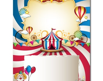 Circus Poster design Scalable vector design Printable paper Scrapbooking DIY invitations Card making Commercial use Instant Download
