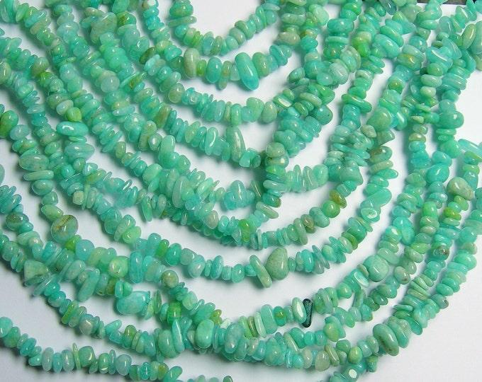 Amazonite - 36 inch full strand - pebble - chip stone  - PSC106