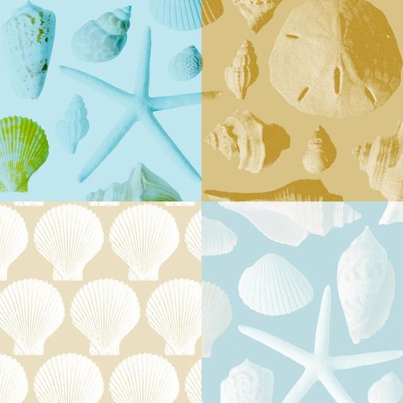Sea Shell Digital Paper Beach Digital Backgrounds Seashell