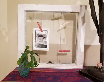 Antique Window Frame Repurposed to Contemporary Picture Frame