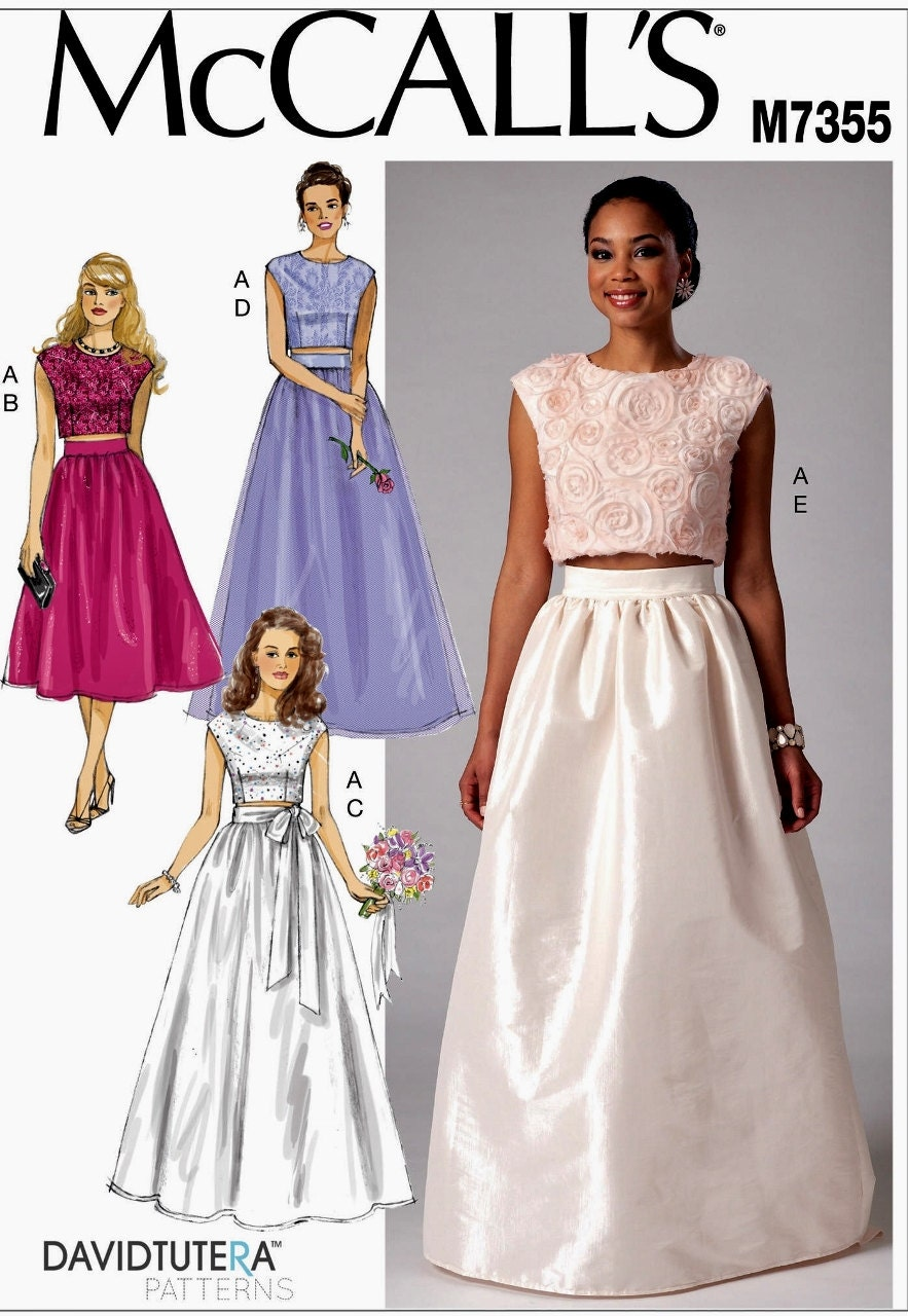 Sewing pattern formal dress formal skirt and top pattern zoom ombrellifo Gallery