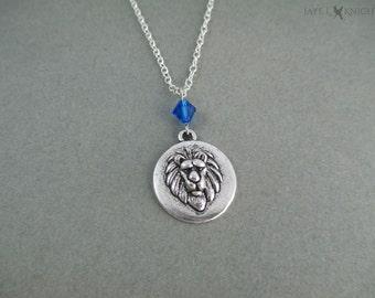 Narnia Aslan Lion Charm Necklace - Silver Charm