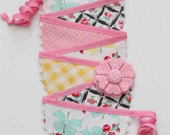 Easter Fabric Bunting, Spring Fabric Garland, Summer Fabric Bunting, Wedding Photo Prop, Girl Nursery Decor READY TO SHIP