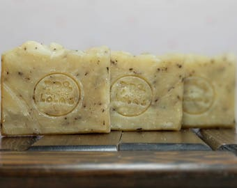 Lola's Lavender Oats Soap - Lavender Oatmeal Soap, All Natural Soap, Handmade Soap, Hot Process Soap, Vegan Soap, Barely-Scented Soap