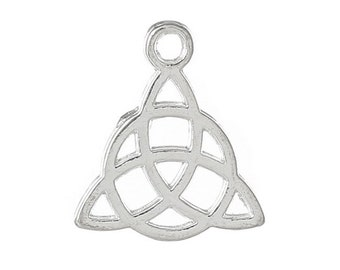 20 platinum silver Celtic knot charms