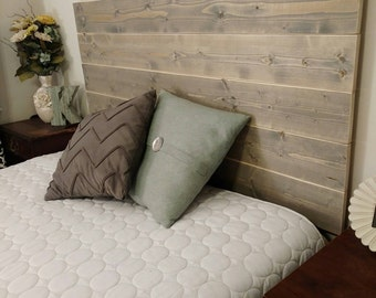Rustic Headboard - Sanded Natural Edge - Fits any bed size - Twin-King - Three stain colors available - Rustic Bedroom Decor