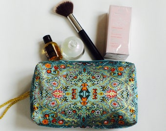 Ethnic makeup bag, Large makeup bag, Ethnic cosmetic bag