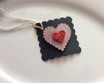 Valentine's Day Tags set of 12