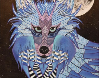 wolf psychedelic intergalactic