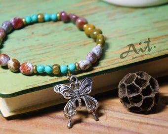 Dream butterfly  Ocean Jasper  Bracelets