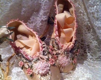 Stuning One of a Kind BALLET SLIPPERS