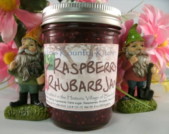 Raspberry Rhubarb jam. Beckeys Homemade Rhubarb Raspberry jam. Handcrafted,deliciously Sweet, jam & jelly
