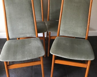 Original Set Of 1960's Farstrup Dining Chairs