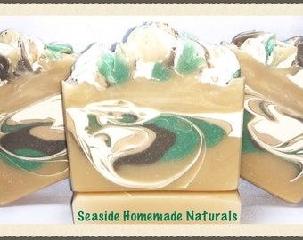 EUCALYPTUS - HONEY Goat Milk Soap scented with Eucalyptus and Lemon Essential Oils | Organic Shea Butter Soap | Gift for Her | Gift for Him