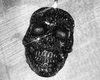 New** Glitter skull keyrings
