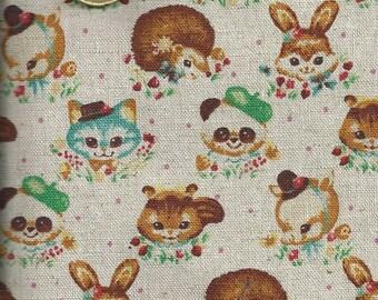 Cotton Fabric with animals - 55x50 cm