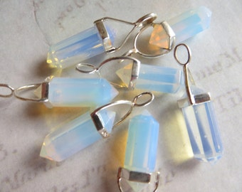 Opalite Crystal Point & Sterling Pendant