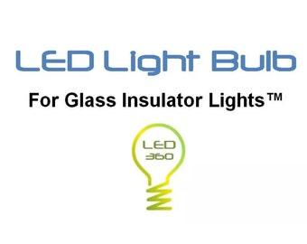 Glass Insulator Light LED Light Bulb -Insulator Light Bulbs