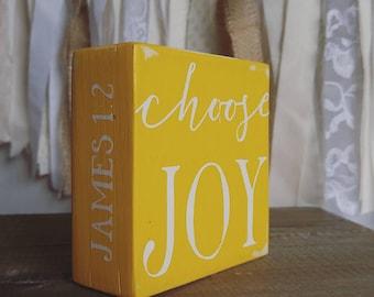Choose Joy, Faith Building Block, January 2017, Rustic, Farmhouse
