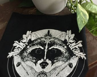 Raccoon // Familiar // Backpatch for Witches and Punks