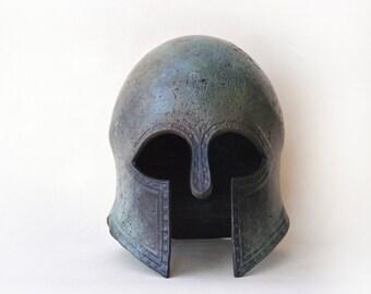 Greek Helmet, Ancient Greek Metal Helmet, War Army Helmet, Bronze Metal Art Sculpture, Museum Art Replica, Greek Art Decor, Unique Art Gift