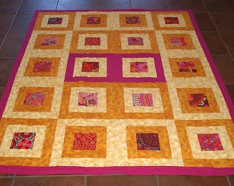 Boxed Kaffe Fassett Charms Lap Quilt