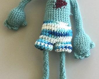 Boy zombie - Bryan - crocheted monster - rag doll