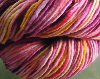 SALE... Was 8.50... Now 6.00...SOPHIA...handspun, handpainted wool yarn...4oz...186yd