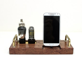 Samsung - HTC - EVO - Droid - Smartphone - Docking Station Charger and Sync - Custom Built Dock - Oak -  Deluxe Tube Style