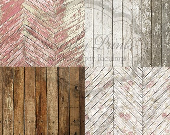 "SAMPLE PACK / FOUR 12"" x 12"" Patterns and Wood / Vinyl Photography Backdrops for Product Photos"