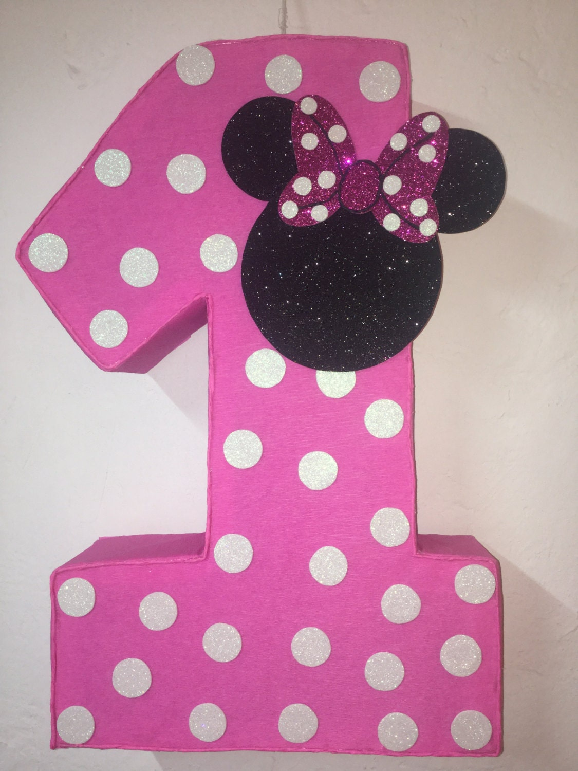 First birthday minnie mouse pinata pink minnie mouse pinata zoom amipublicfo Choice Image